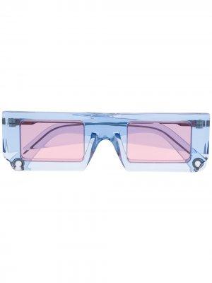 Солнцезащитные очки Soleil в квадратной оправе Jacquemus. Цвет: синий