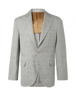 Пиджак BRUNELLO CUCINELLI. Цвет: серый