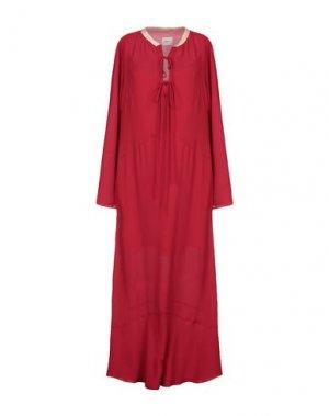 Длинное платье ..,MERCI. Цвет: красно-коричневый