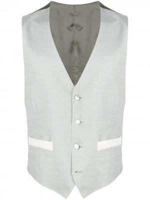 Delloglio приталенный жилет Dell'oglio. Цвет: серый