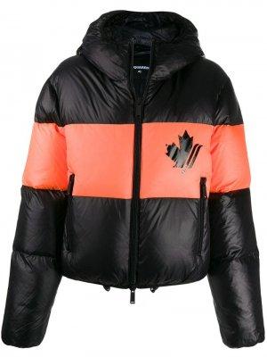 Куртка-пуховик с принтом Dsquared2