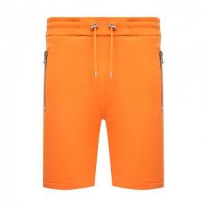 Хлопковые шорты Balmain. Цвет: оранжевый