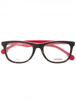 Очки Carrerino в прямоугольной оправе Carrera Junior. Цвет: красный