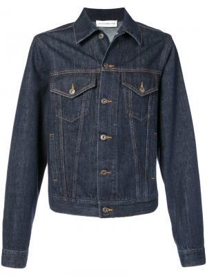 Джинсовая куртка с принтом на спине Faith Connexion. Цвет: синий