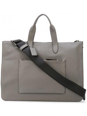 Сумка для ноутбука Metropolitan Coach. Цвет: серый