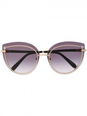 Солнцезащитные очки в оправе кошачий глаз Chopard Eyewear. Цвет: черный