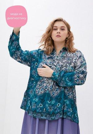 Блуза Elena Miro. Цвет: разноцветный