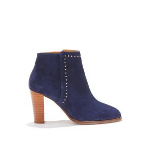 Ботильоны кожаные на высоком каблуке LENVOÛTANTE BOBBIES. Цвет: темно-синий