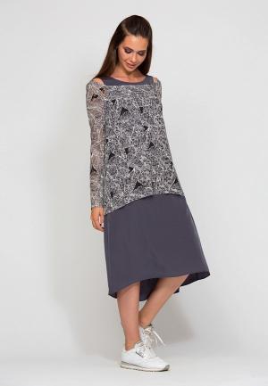 Платье D.VA. Цвет: серый