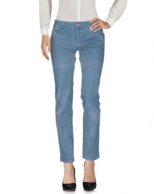 Повседневные брюки EIGHTH SIN. Цвет: грифельно-синий