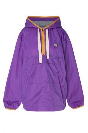 Фиолетовая куртка-анорак Acne Studios. Цвет: фиолетовый