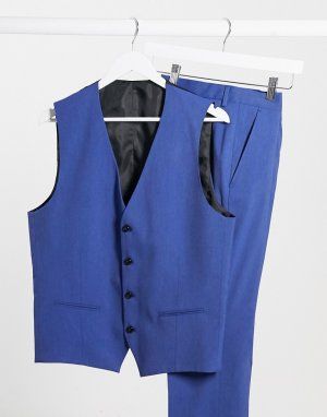Синий жилет узкого кроя -Голубой Selected Homme