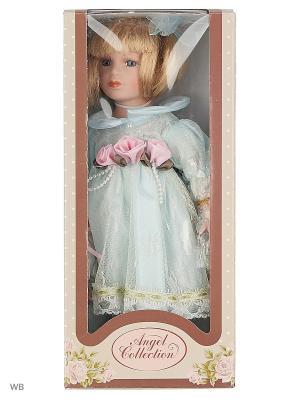 Кукла фарфор 12 Аделина Angel Collection. Цвет: голубой, белый