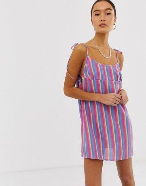 Платье на бретелях в контрастную полоску Emory Park