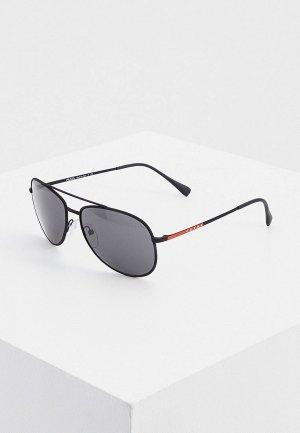 Очки солнцезащитные Prada Linea Rossa PS 55US DG05S0. Цвет: черный