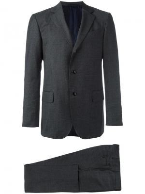 Классический костюм-двойка Mp Massimo Piombo. Цвет: серый