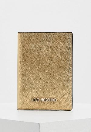 Обложка для паспорта Love Moschino. Цвет: золотой