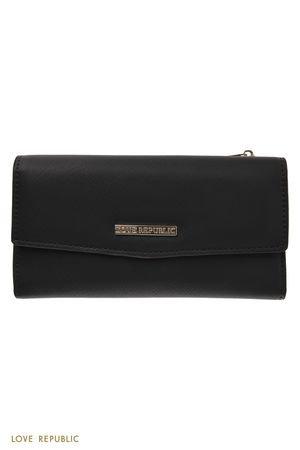 Прямоугольный чёрный кошелёк LOVE REPUBLIC