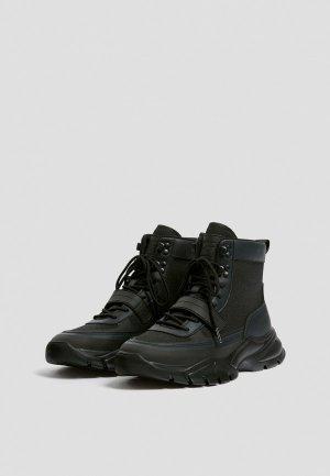 Ботинки Pull&Bear. Цвет: черный