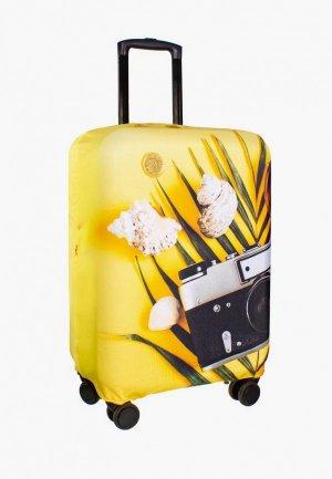 Чехол для чемодана Proffi travel. Цвет: желтый