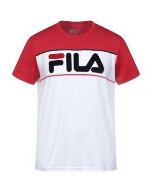 Футболка FILA. Цвет: красный
