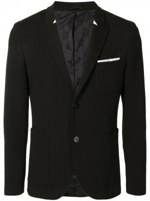 Однобортный пиджак узкого кроя Neil Barrett. Цвет: черный