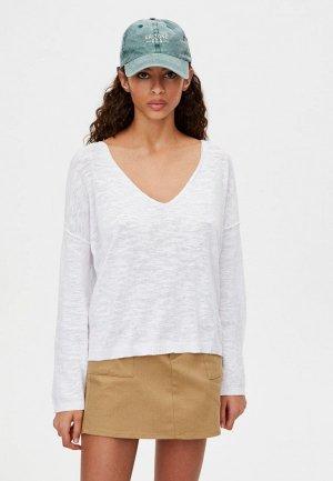 Пуловер Pull&Bear. Цвет: белый