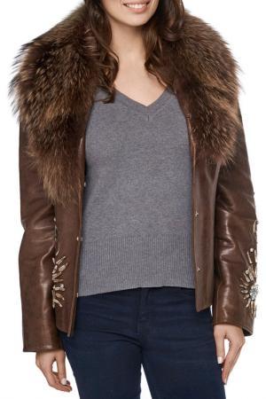 Куртка Jean Guise. Цвет: коричневый