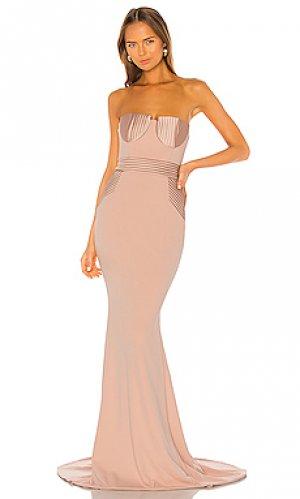 Вечернее платье fairmont Zhivago. Цвет: розовый