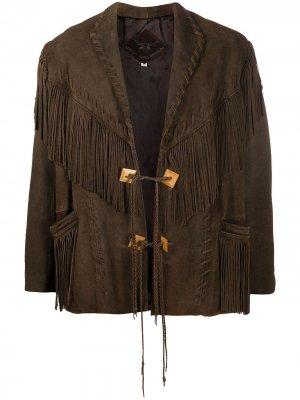 Пиджак в бахромой A.N.G.E.L.O. Vintage Cult. Цвет: коричневый