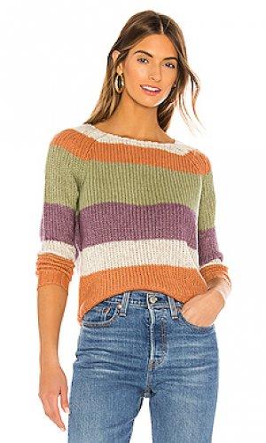 Пуловер daja NSF. Цвет: purple,cream,burnt orange