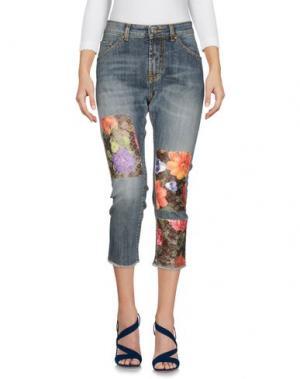 Джинсовые брюки-капри NORA BARTH. Цвет: синий