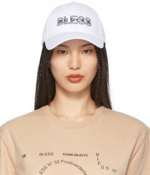 White Nº69 Lost In Contemplation Variation BLESSequipe Cap Bless. Цвет: white