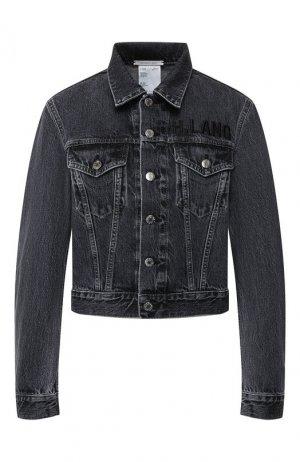 Джинсовая куртка Helmut Lang. Цвет: серый