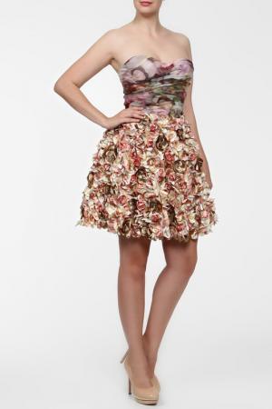 Платье Dennis Basso. Цвет: мультицвет