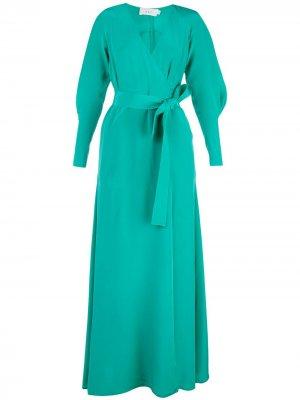 Длинное платье Nakia с запахом A.L.C.. Цвет: зеленый