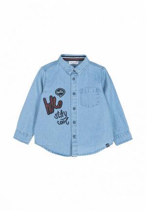 Рубашка джинсовая Coccodrillo. Цвет: голубой