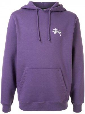 Худи с логотипом Stussy. Цвет: фиолетовый