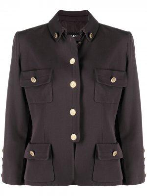 Пиджак в стиле милитари на пуговицах Chanel Pre-Owned. Цвет: коричневый