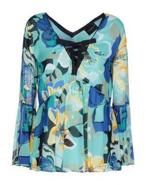Блузка ATOS LOMBARDINI. Цвет: бирюзовый