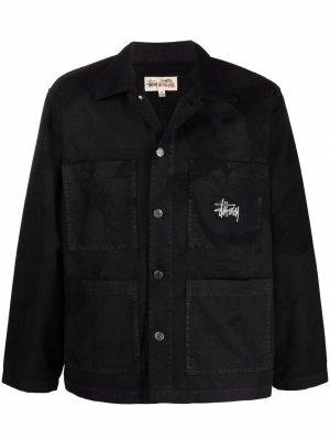 Venus logo-embroidered chore jacket Stussy. Цвет: черный