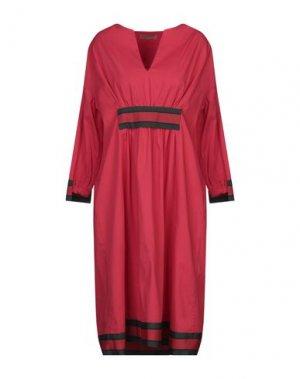 Платье до колена CLUB VOLTAIRE. Цвет: красный
