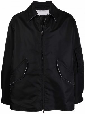 Куртка-рубашка на молнии Valentino. Цвет: черный