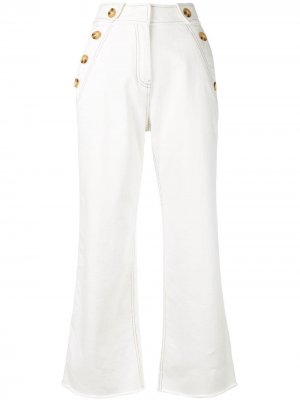 Cropped trousers Derek Lam 10 Crosby. Цвет: белый