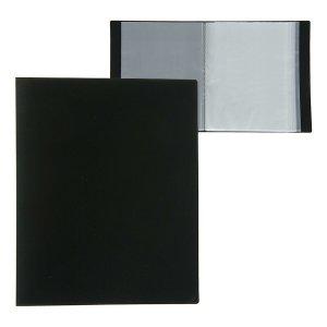Папка а4, 80 прозрачных вкладышей, 700 мкм, calligrata, песок, чёрная Calligrata