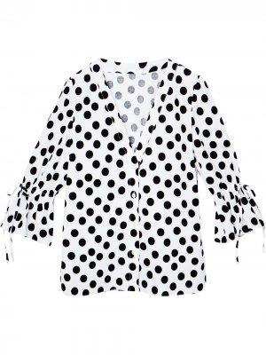 Блузка в горох Carolina Herrera. Цвет: белый
