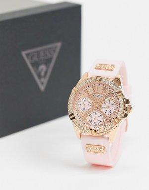 Часы с розовым ремешком -Розовый Guess