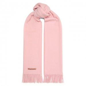 Шерстяной шарф Acne Studios. Цвет: розовый