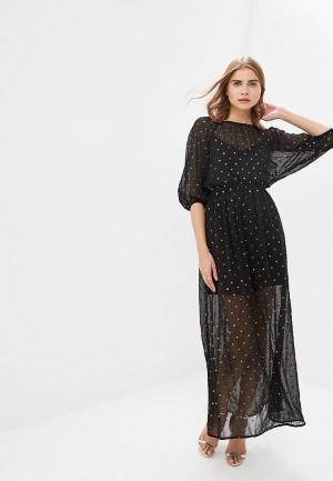 Платье LOST INK CHIFFON & SEQUIN MAXI DRESS. Цвет: черный
