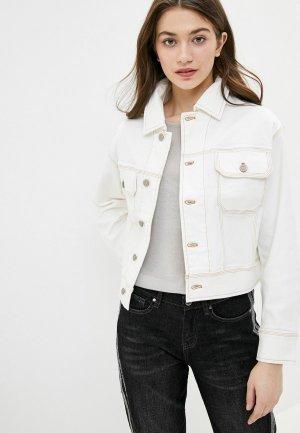 Куртка джинсовая Krapiva. Цвет: бежевый